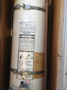 mobile home water heater earthquake strapping