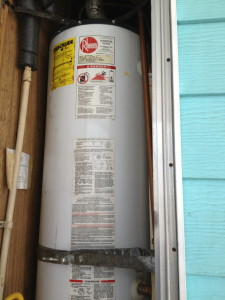 mobile home water heater not properly strapped