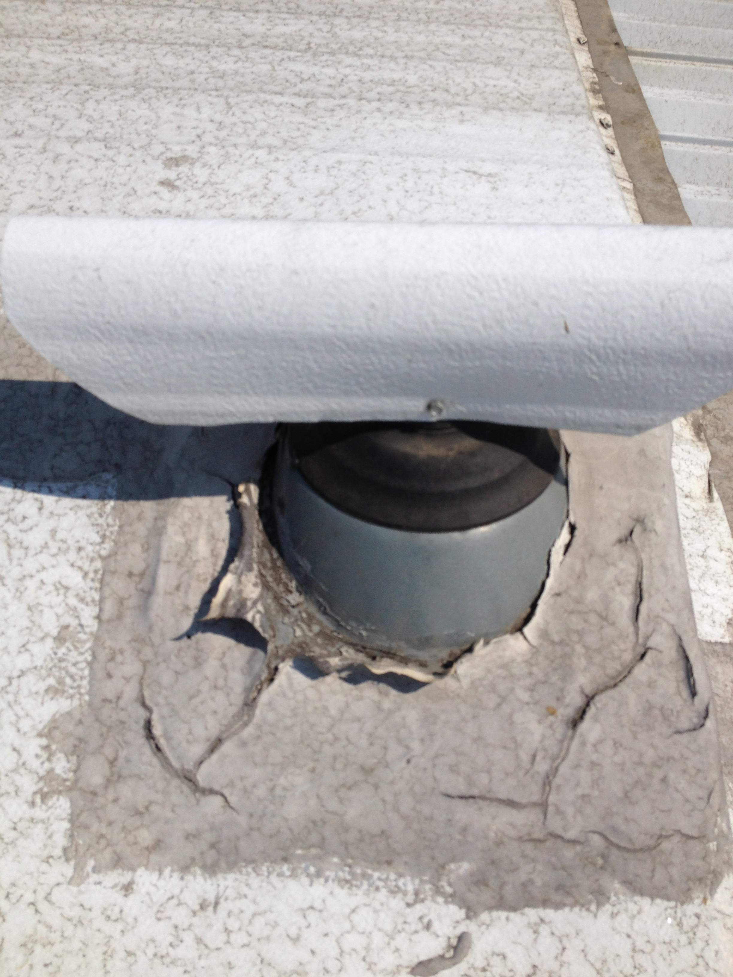 Vent Needs To Be Resealed At Mobile Home Roof